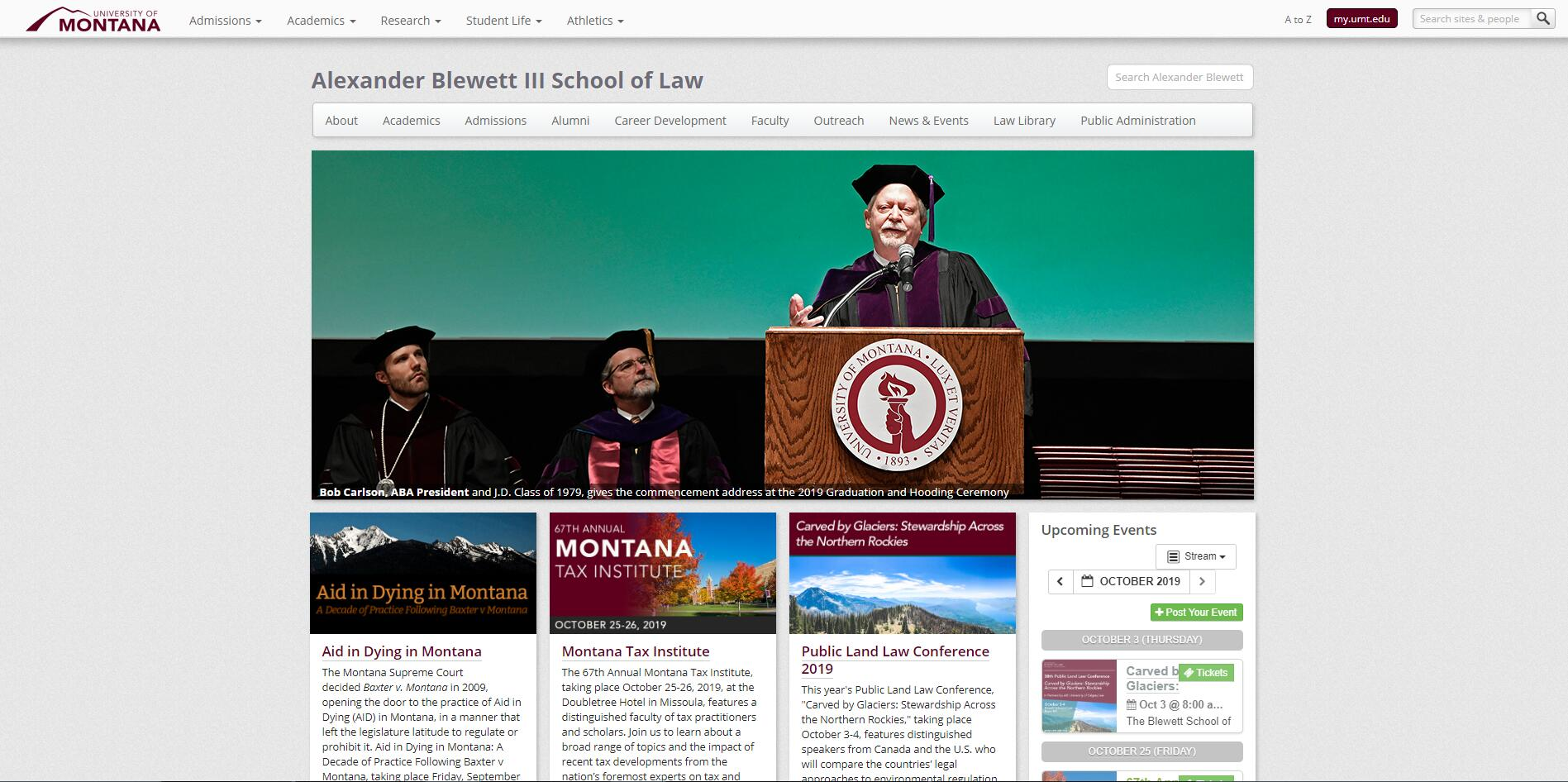 The School of Law at University of Montana