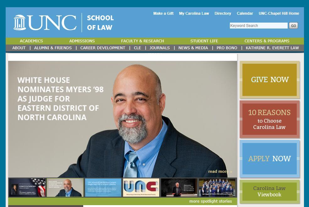 The School of Law at University of North Carolina--Chapel Hill