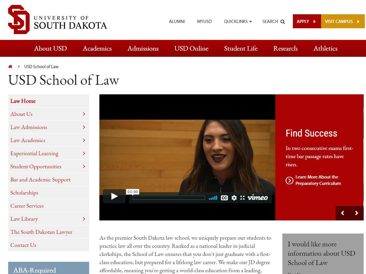 The School of Law at University of South Dakota