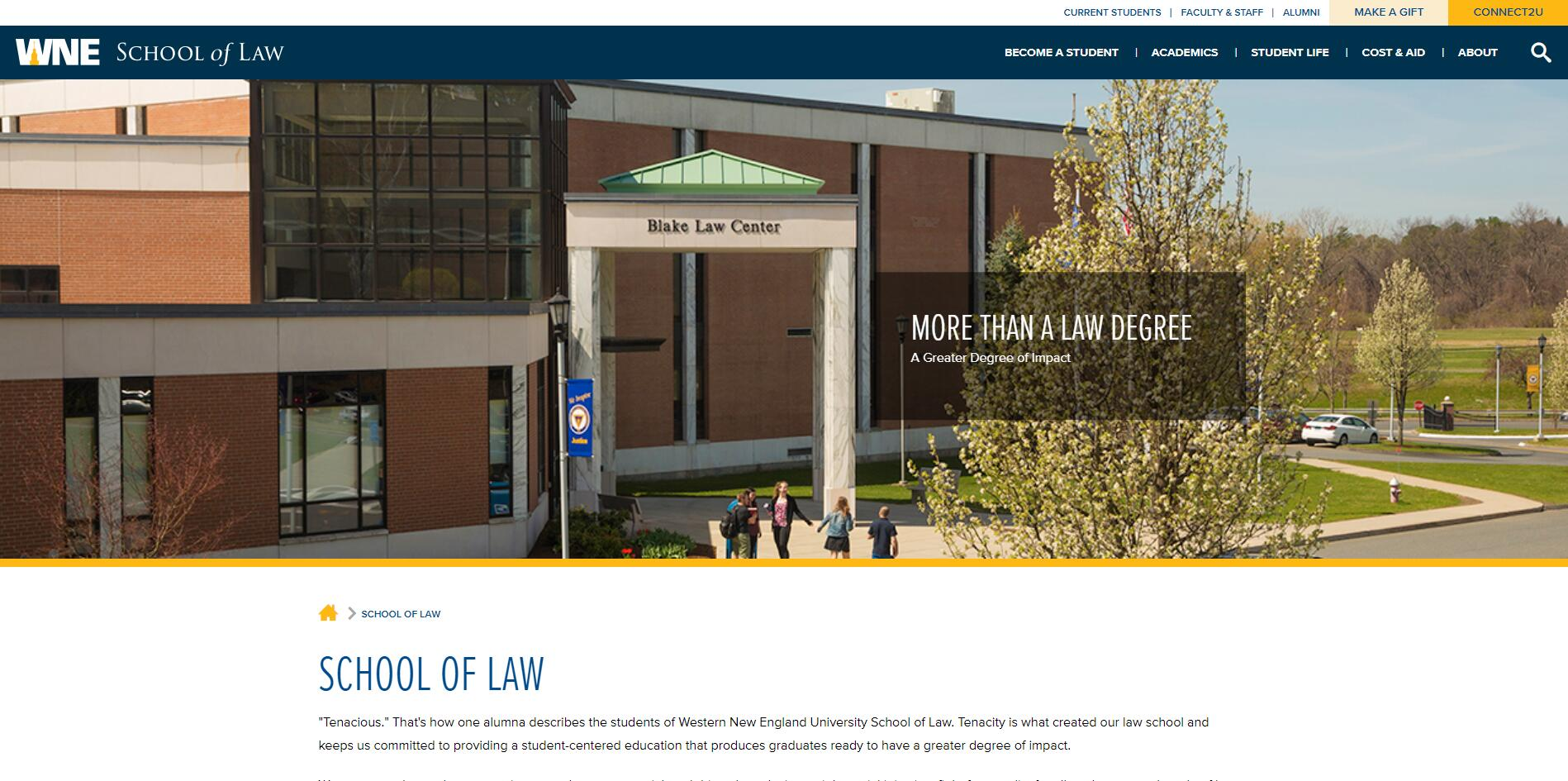 The School of Law at Western New England University