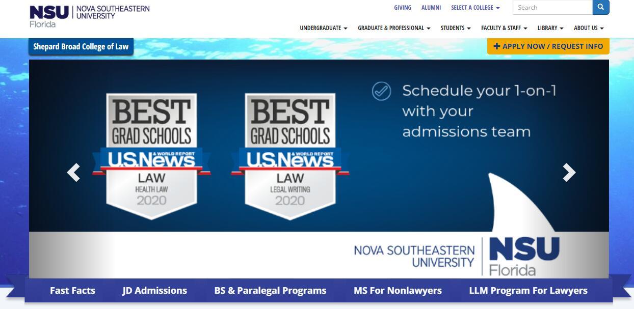 The Shepard Broad Law Center at Nova Southeastern University