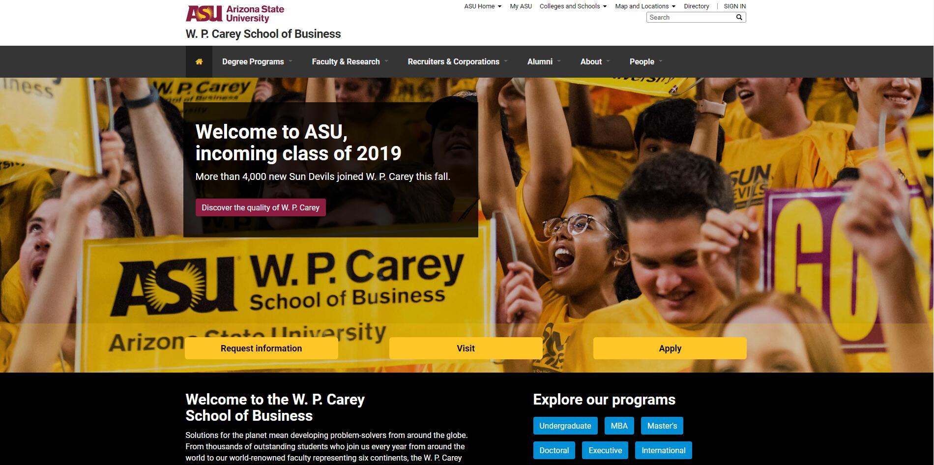 The W. P. Carey School of Business at Arizona State University