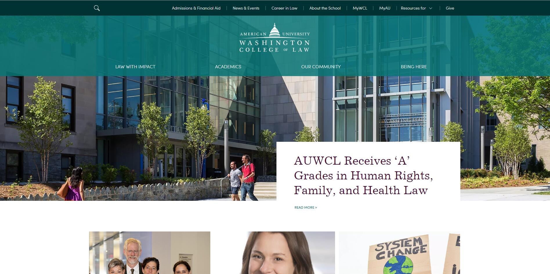 The Washington College of Law at American University