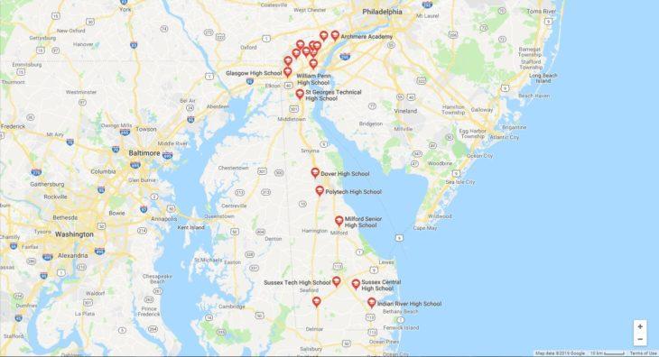 Top High Schools in Delaware