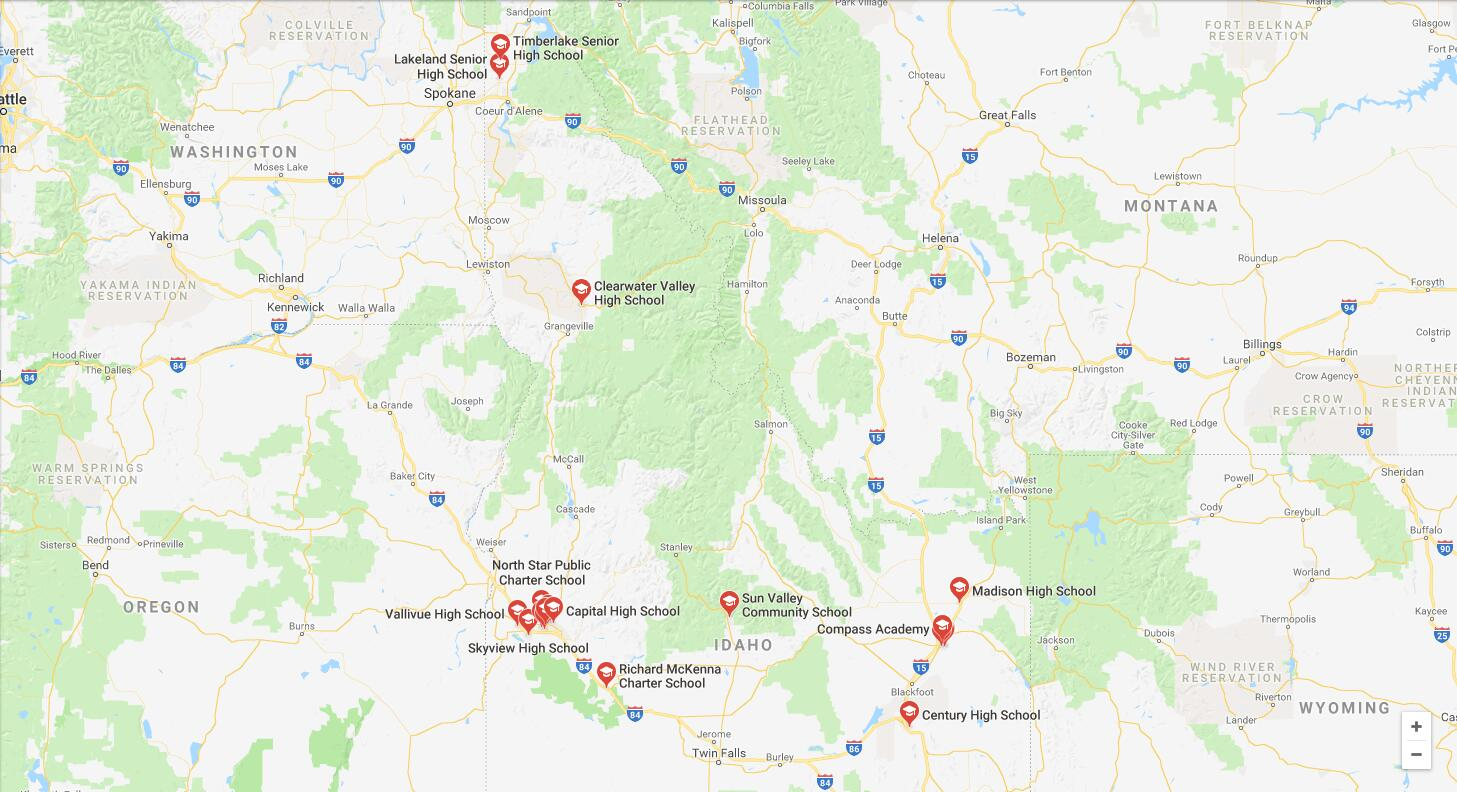 Top High Schools in Idaho