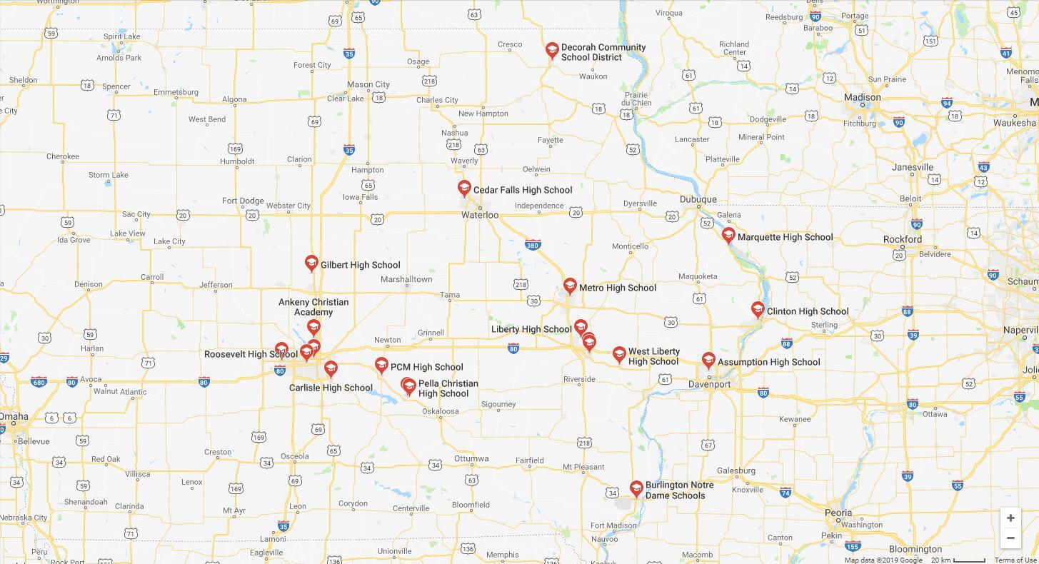 Top High Schools in Iowa