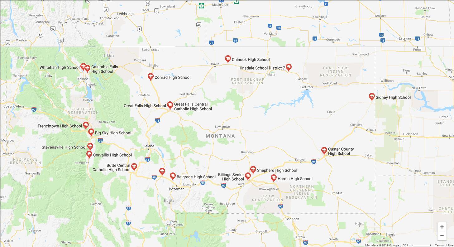 Top High Schools in Montana