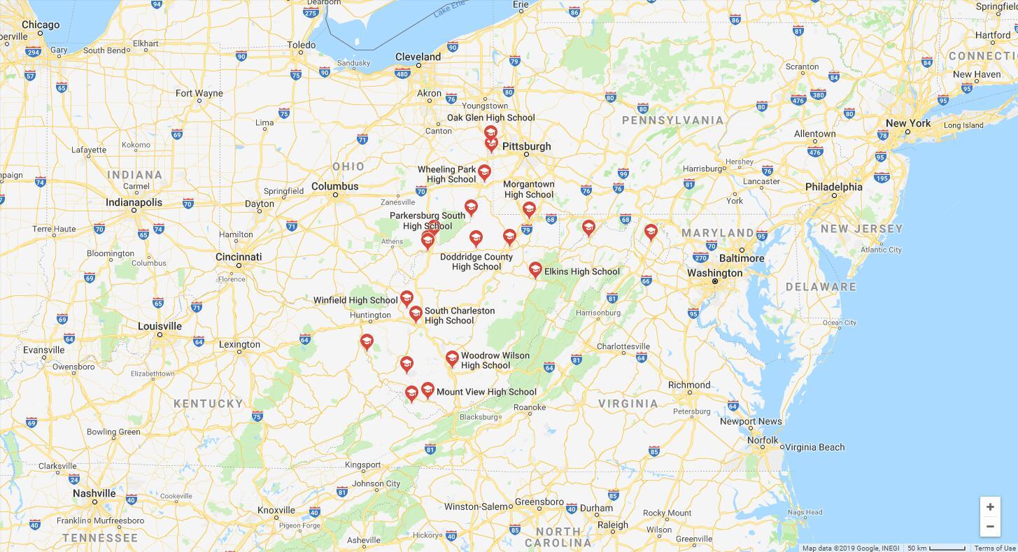 Top High Schools in West Virginia