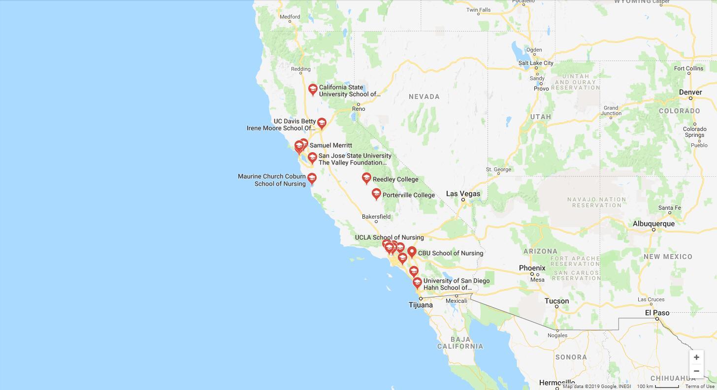 Top Nursing Schools in California