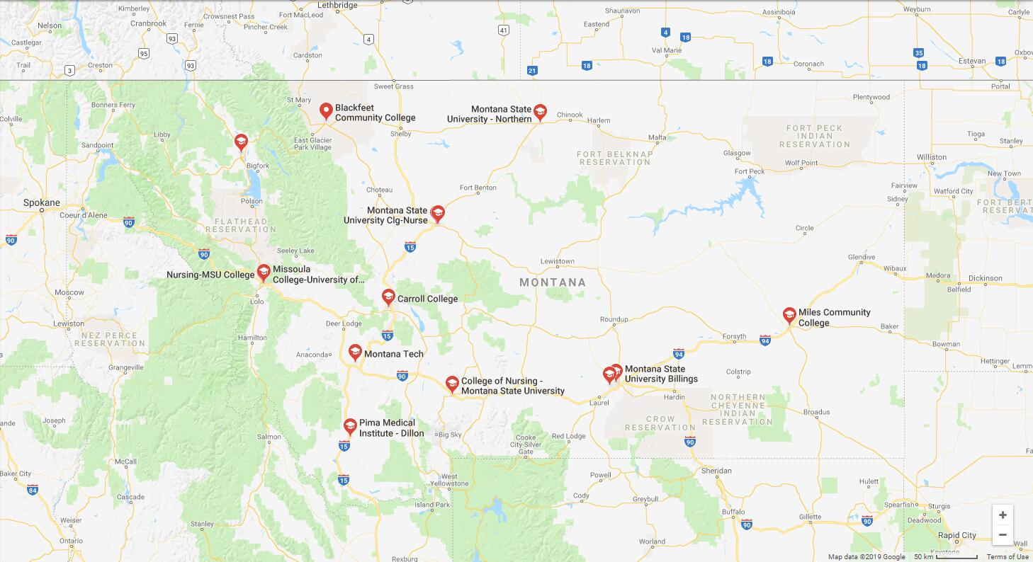 Top Nursing Schools in Montana