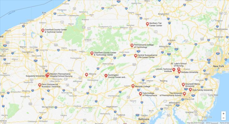 Top Nursing Schools in Pennsylvania 2019