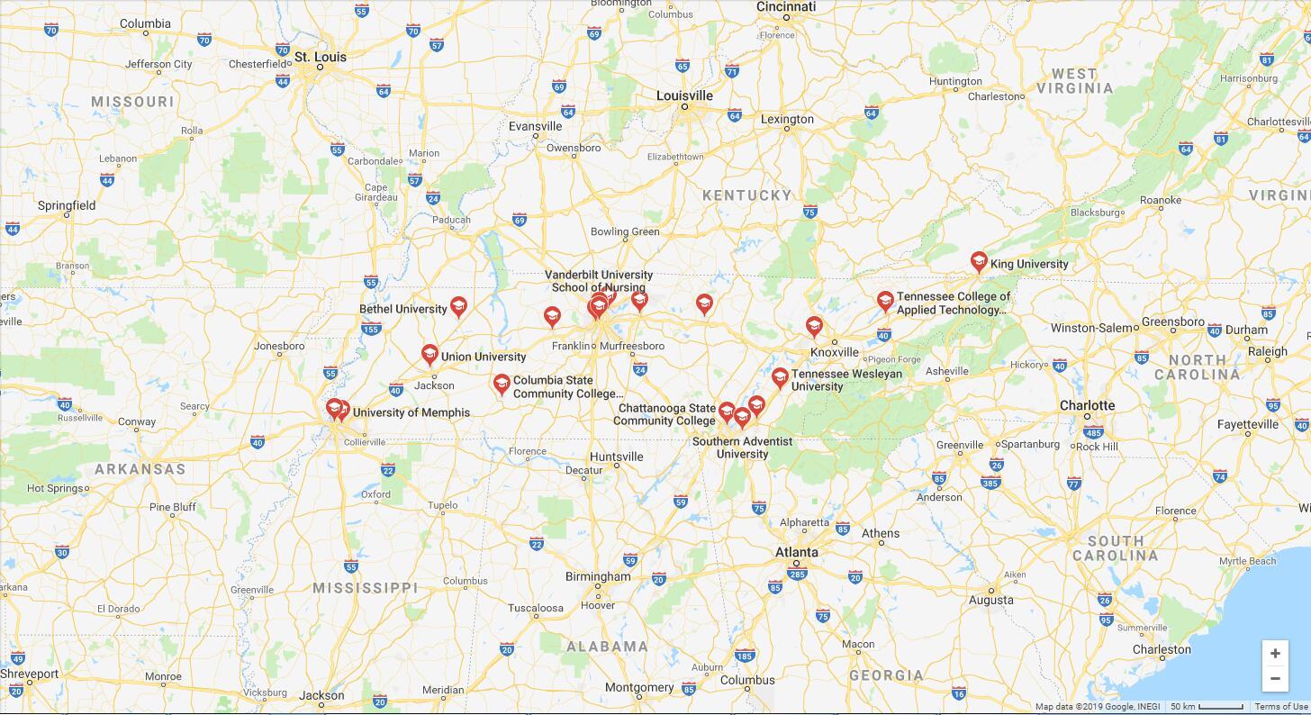 Top Nursing Schools in Tennessee