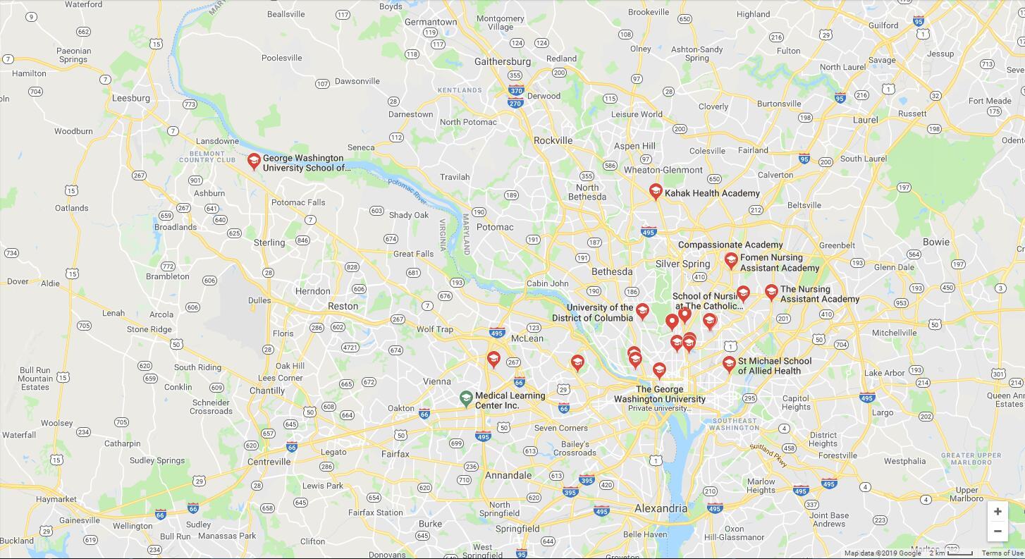 Top Nursing Schools in Washington DC