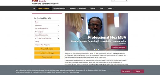 Arizona State University (Carey) Part Time MBA