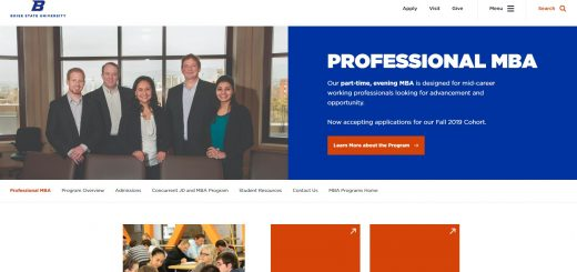Boise State University Part Time MBA