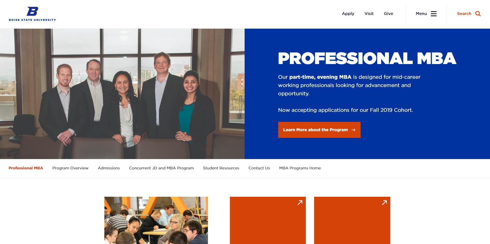 Boise State University Part Time MBA