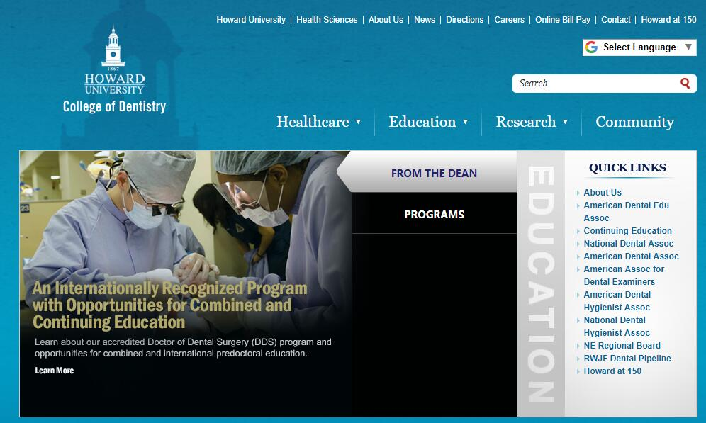 Dental Schools in Washington DC