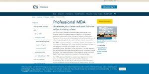 George Washington University Part Time MBA