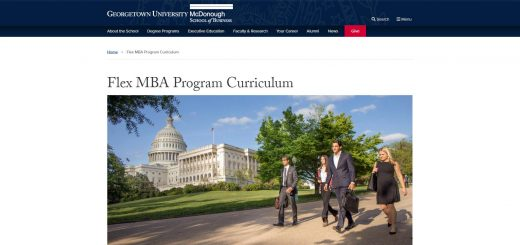 Georgetown University (McDonough) Part Time MBA