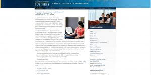 Marquette University Part Time MBA