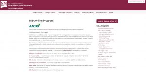 New Mexico State University Part Time MBA