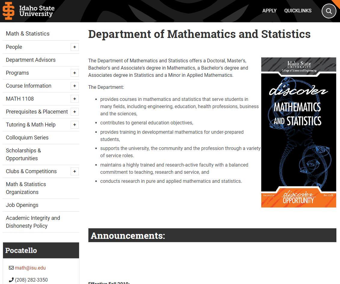 Top Math Schools in Idaho