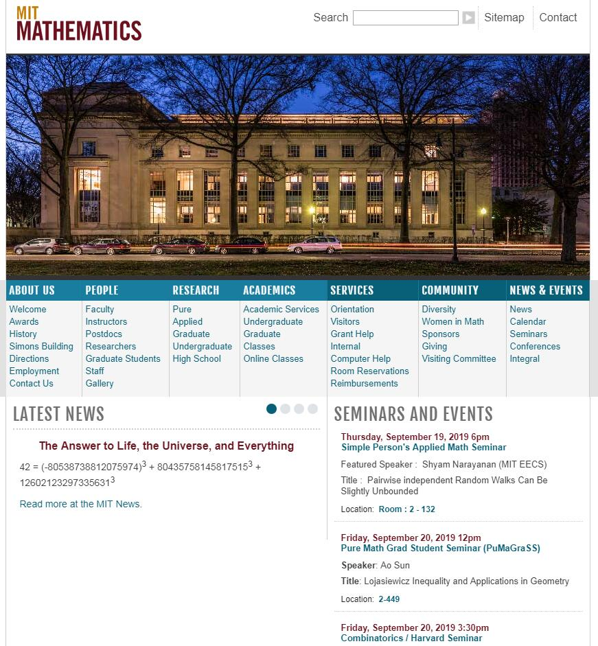 Top Math Schools in Massachusetts