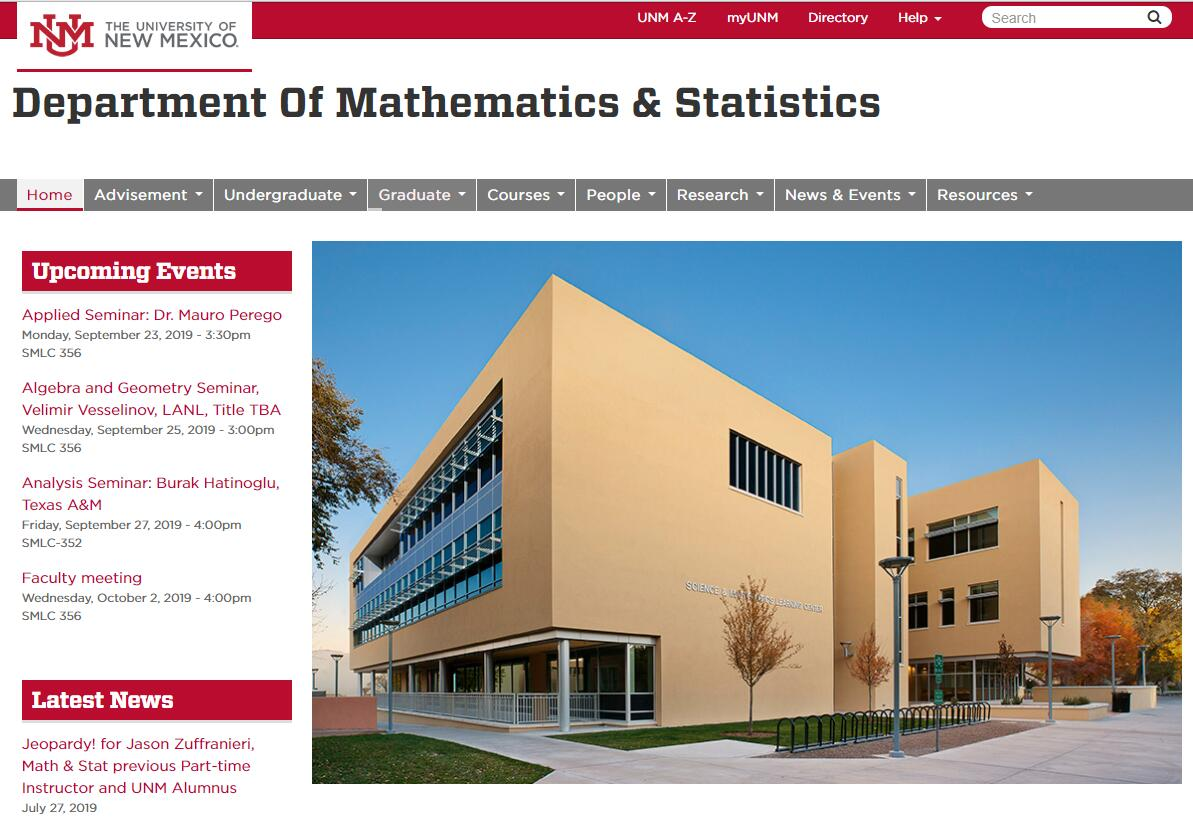 Top Math Schools in New Mexico