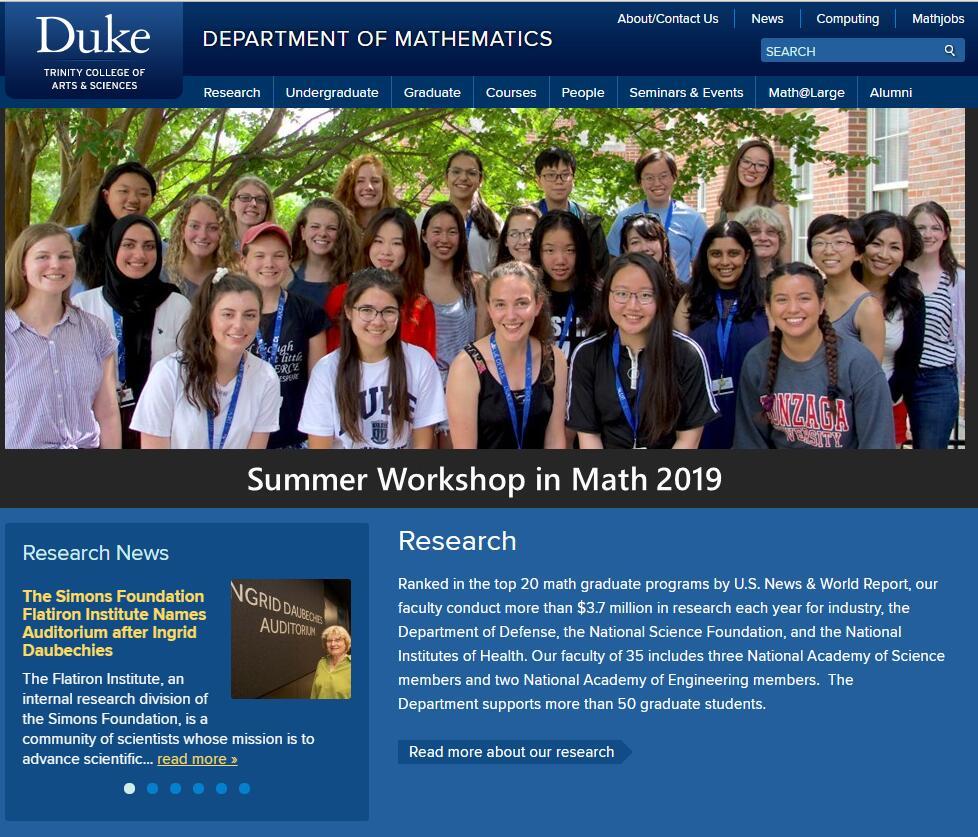 Top Math Schools in North Carolina