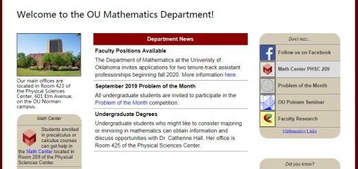Top Math Schools in Oklahoma