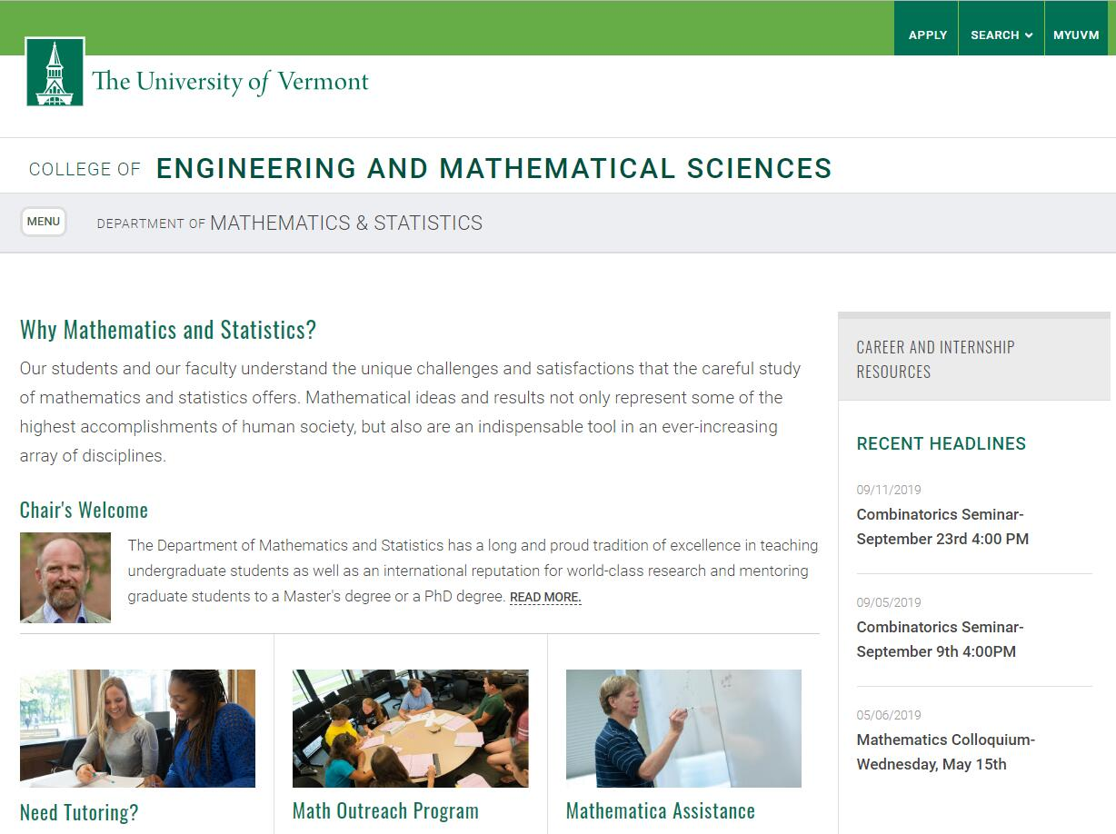 Top Math Schools in Vermont
