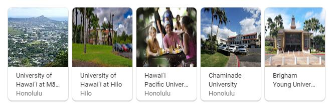 Top Universities in Hawaii