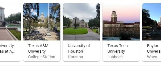 Top Universities in Texas