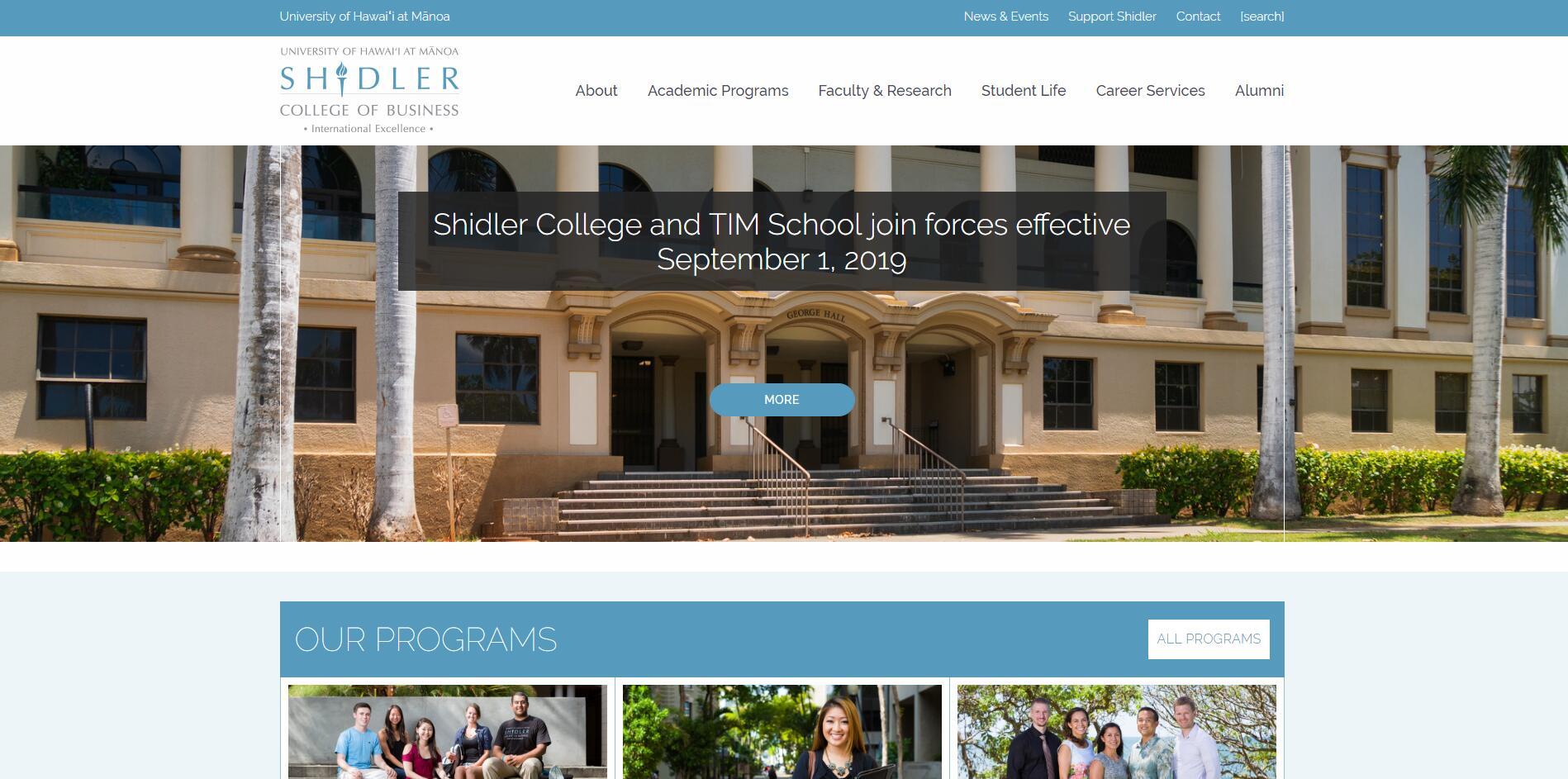 University of Hawaii--Manoa (Shidler) Part Time MBA