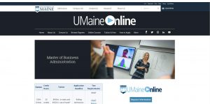 University of Maine Part Time MBA