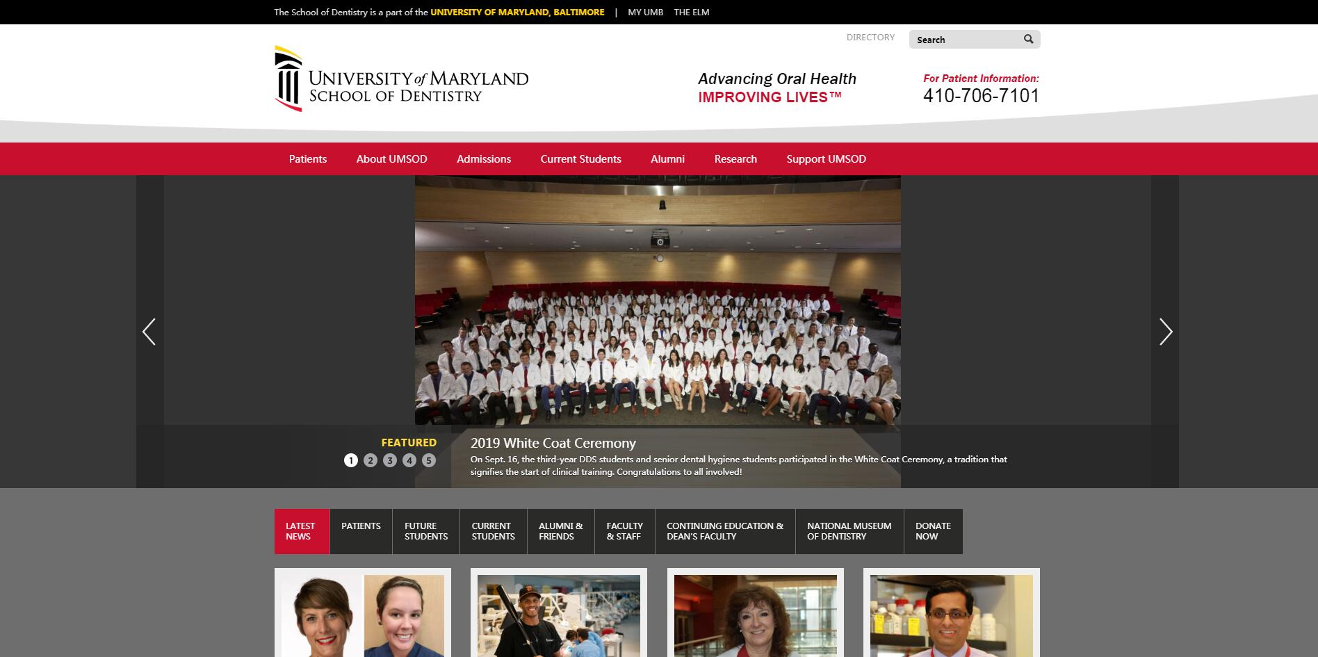 University of Maryland Dental School of the University of Maryland at Baltimore