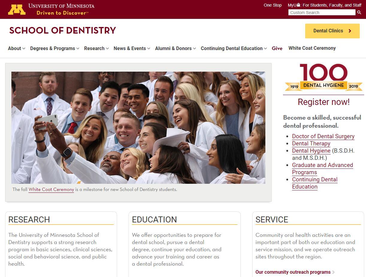 Dental Schools in Minnesota
