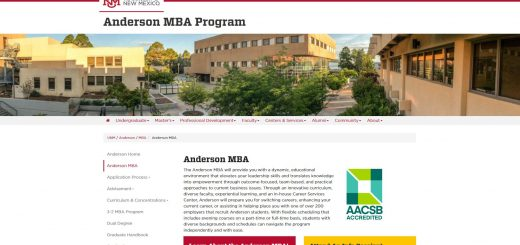 University of New Mexico (Anderson Part Time MBA