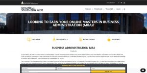 University of Southern Mississippi Part Time MBA