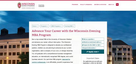 University of Wisconsin--Madison Part Time MBA