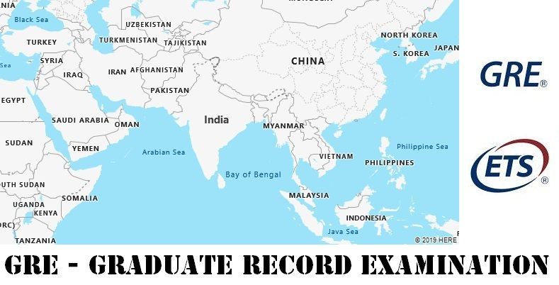 GRE Testing Locations in India