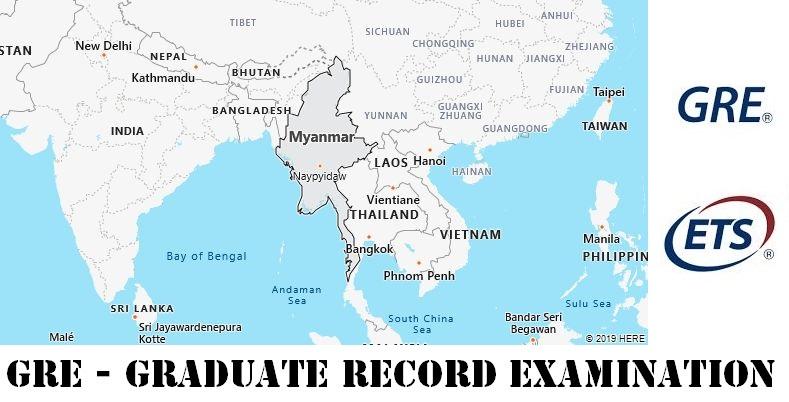 GRE Testing Locations in Myanmar