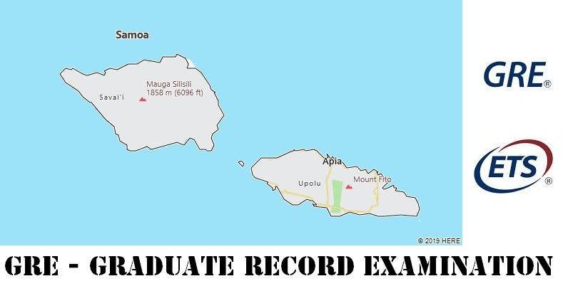 GRE Testing Locations in Samoa