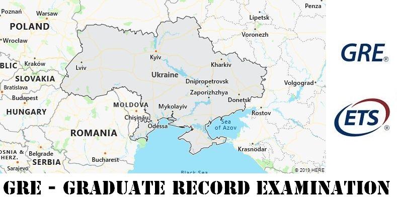 GRE Testing Locations in Ukraine
