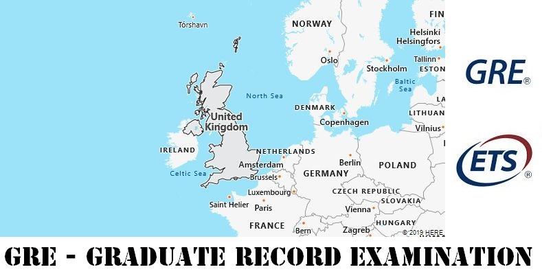 GRE Testing Locations in United Kingdom
