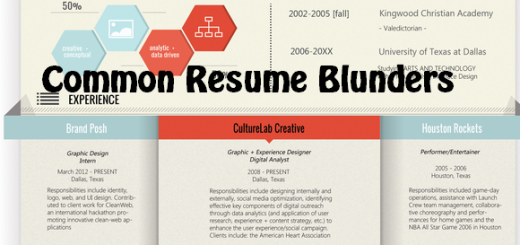 Common Resume Blunders