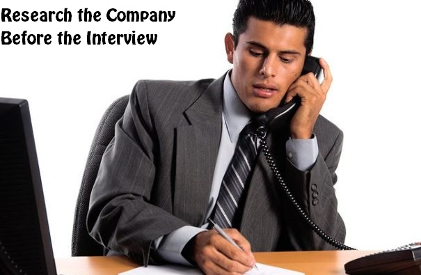Research the Company Before the Interview