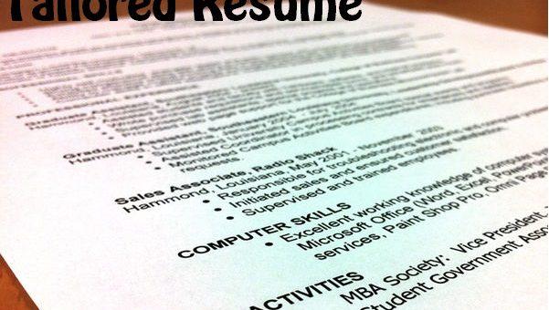 Tailored Resume