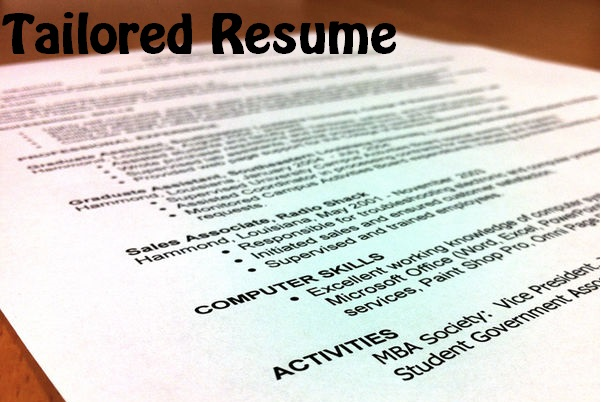 Tailored Resume