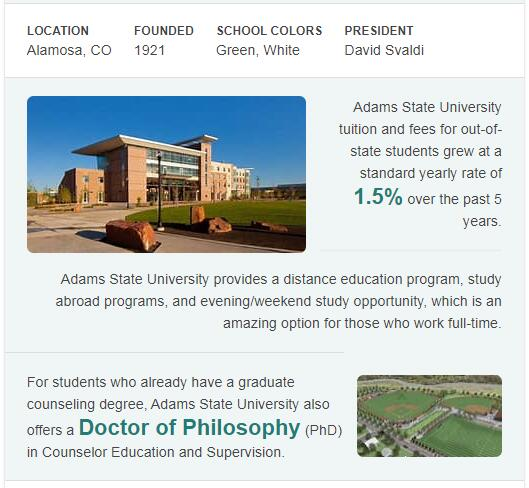 Adams State College History